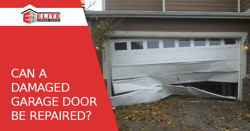 Aurora damaged garage door