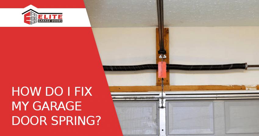 spring repair garage door
